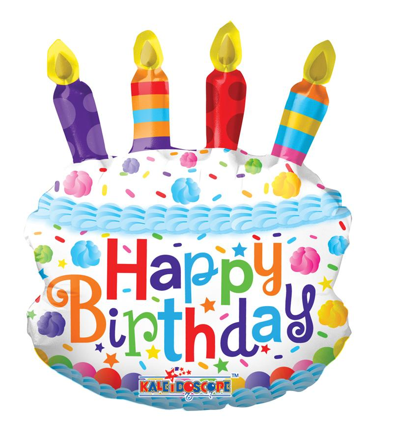 Happy Birthday Cake And Balloons Free